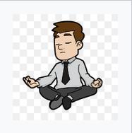 Man meditating by Vectortons via Wikimedia