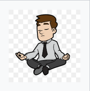 Man meditating by Vectortons via Wikimedia