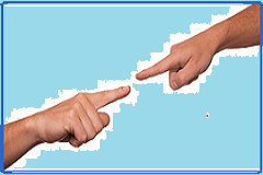 Fingers pointing at each other via pixabay
