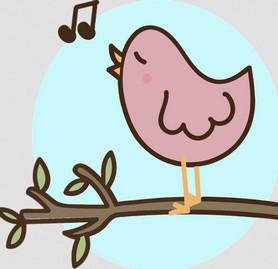 Singing bird cartoon from pixabay