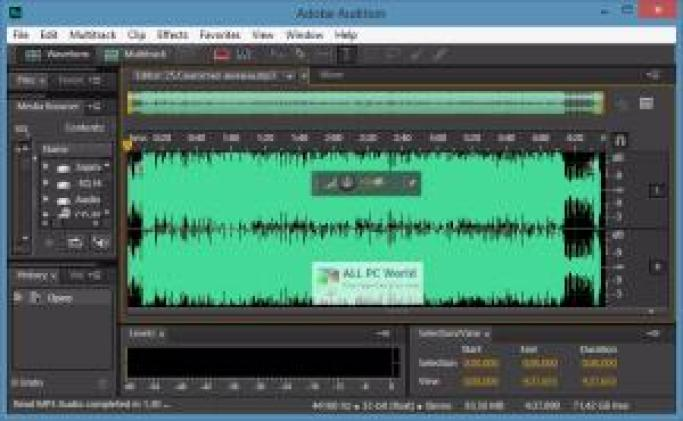 Adobe Audition cc 2018 Free Download New Version for Windows