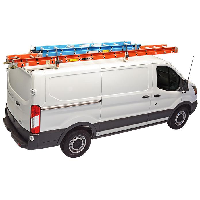 Crossbar Utility Van Rack with Wind Deflector