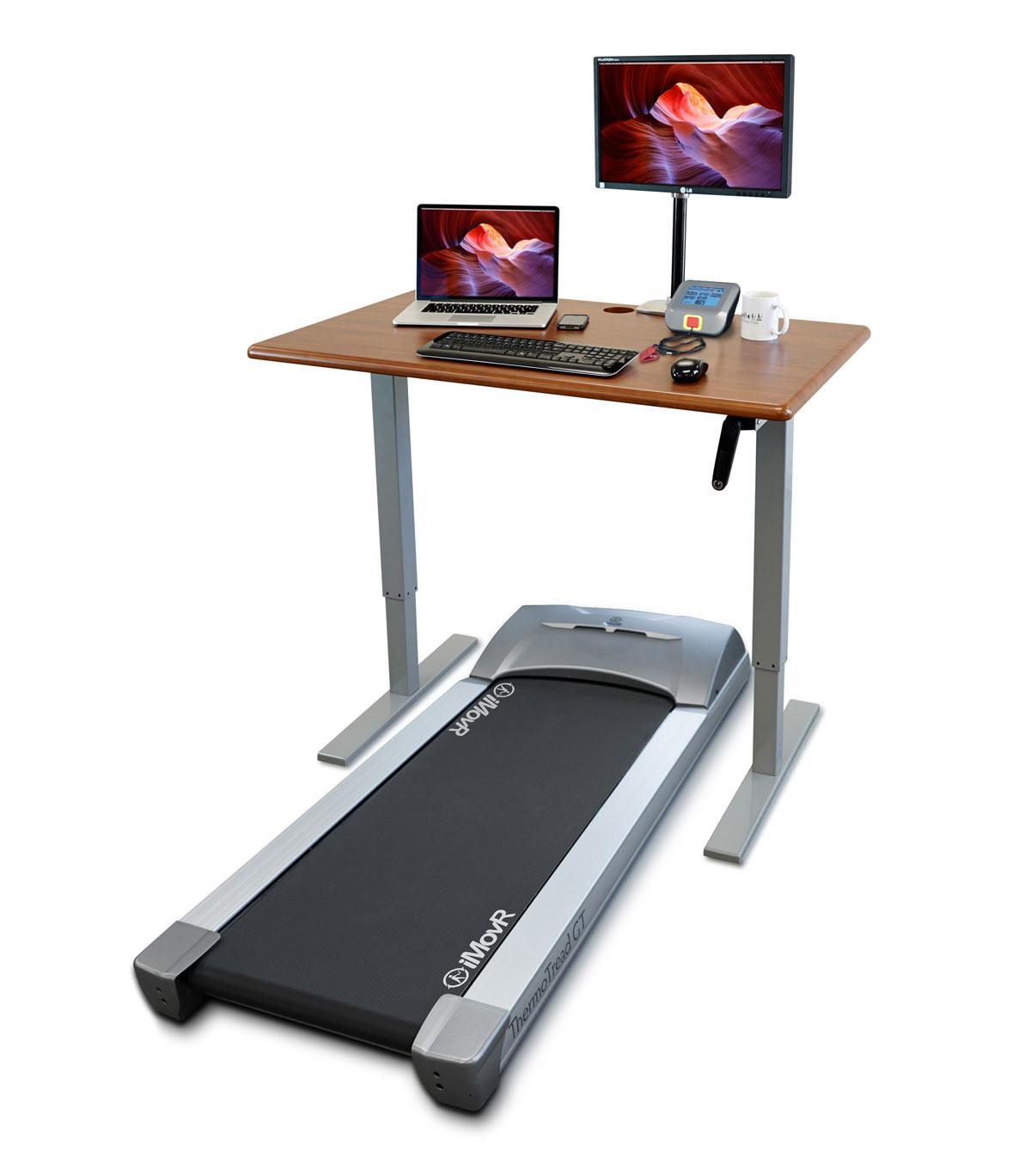 iMovR ThermoDesk Ellure Treadmill Desk