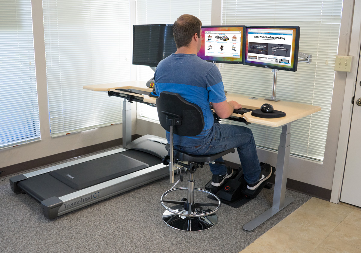 The QuadModal Office Fitness DreamStation Sit Stand