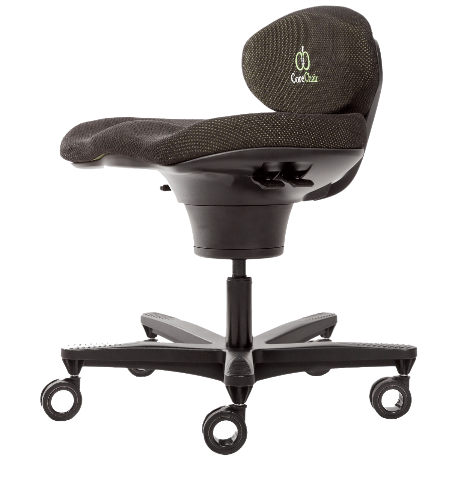 office chair leaning to one side antique cast iron garden chairs active ergonomic comparison corechair