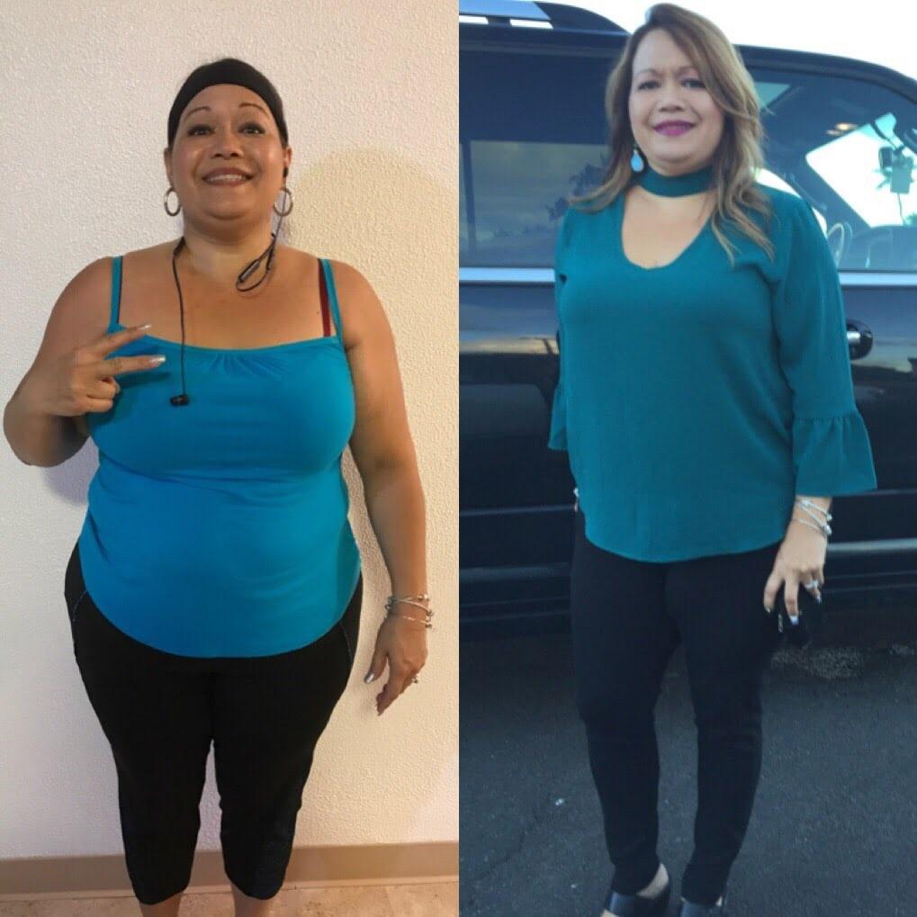 5 weeks weight loss