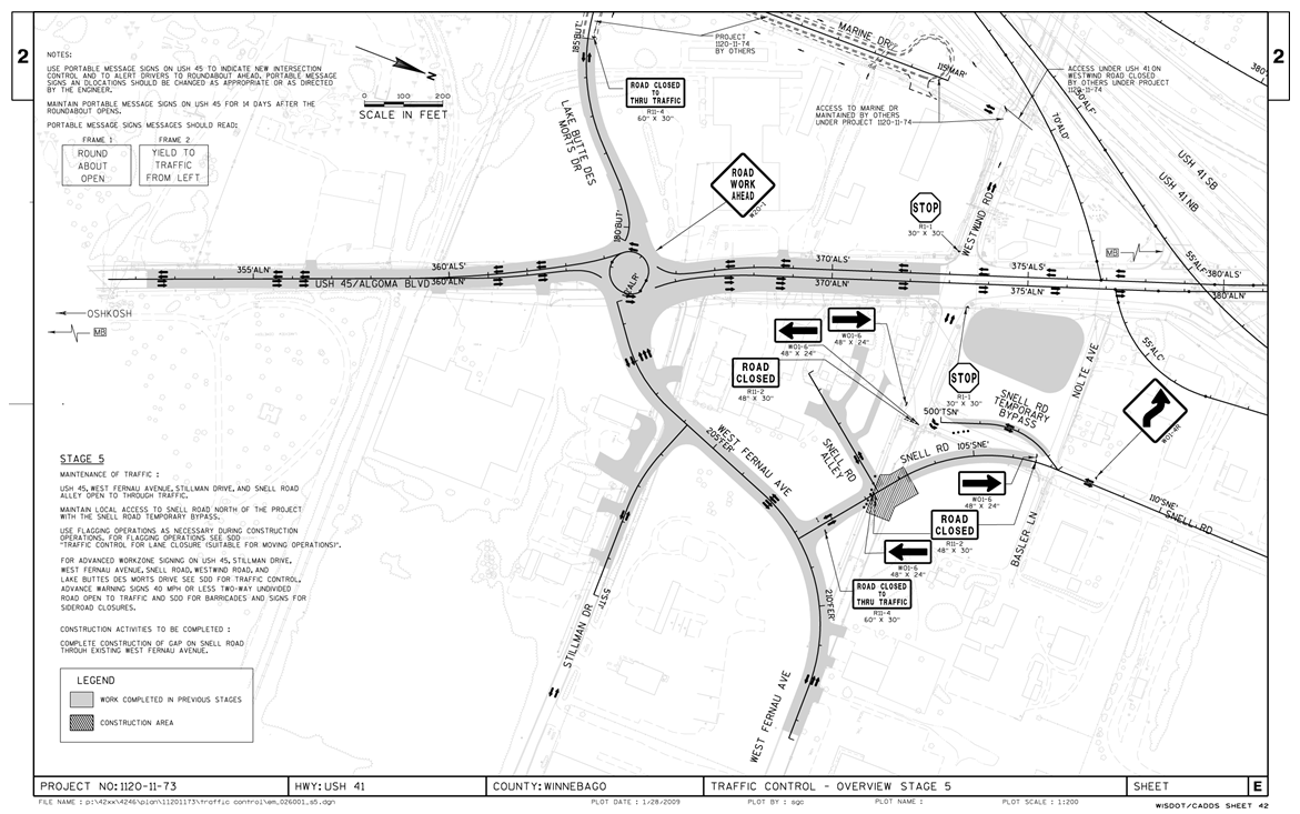 Construction Traffic Control Plan TemplateDownload Free