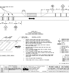 diagram depicts the colorado dot typical application for temporary rumble strips on a two lane [ 1200 x 781 Pixel ]