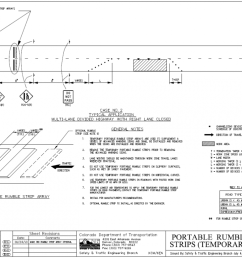 diagram depicts the colorado dot typical application for temporary rumble strips on a multi lane [ 1200 x 779 Pixel ]