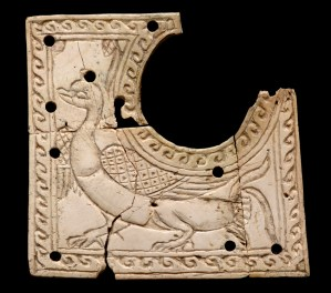 Ivory carving showing a duck. Image: British Museum
