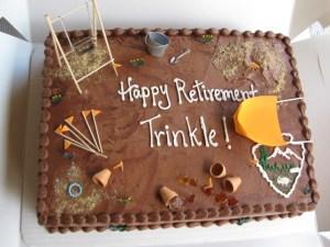 Trinkle's Retirement Cake
