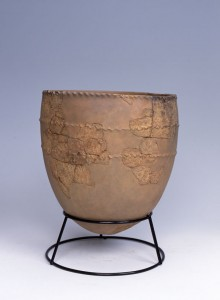 An Incipient Jomon pot from Kubodera-minami, Niigata Prefecture, Japan ca. 15,000 years old.  Photo: courtesy of Tokamchi City Museum.