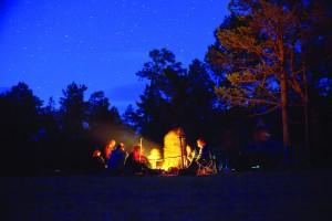 Chris Catliing campfire