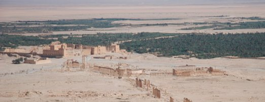 Global connections: the site of Palmyra. Beyond lies the vast expanse of the Syrian desert.