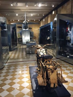 In the National War Museum: Faith and other important World War II artefacts.