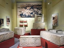 Megalithic carvings in the National Archaeology Museum.