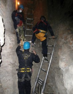 Accessing the archaeology requires techniques and kit more commonly associated with potholing.