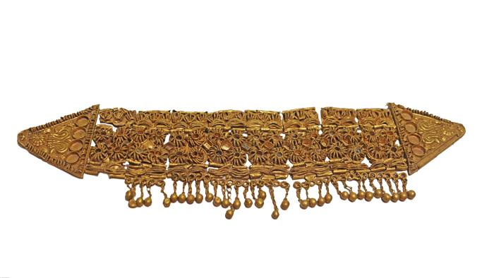 ornate gold diadem