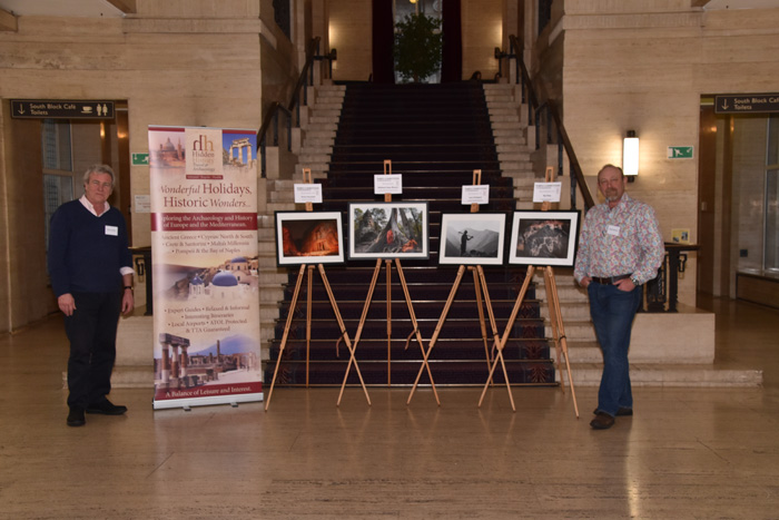 Simon Butler, Hidden History banner, the four selected photos, Adam Stanford in hall
