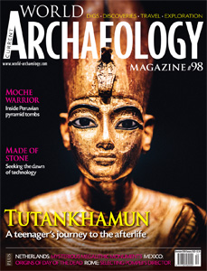 Cover of CWA 98, showing gilded wooden statue of Tutankhamun