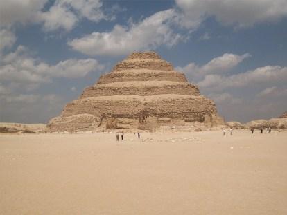 A photo of Pharaoh Djoser's step pyramid.