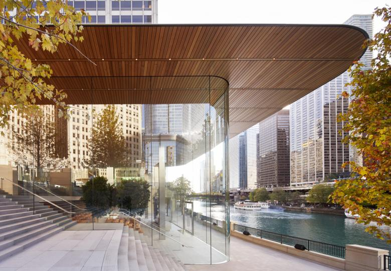 apple opens new chicago