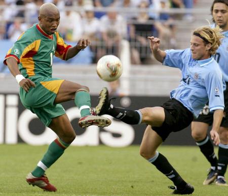 Image result for senegal uruguay in action 2002