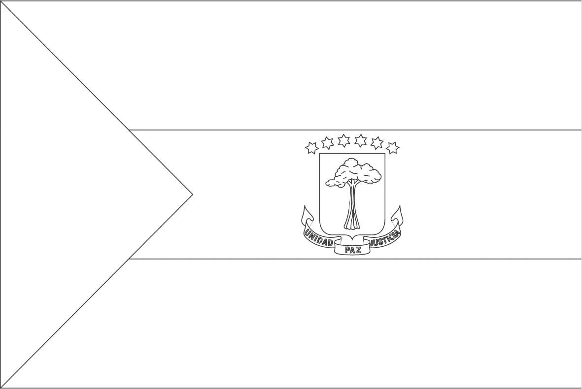 Fiji Flag Outline Sketch Coloring Page