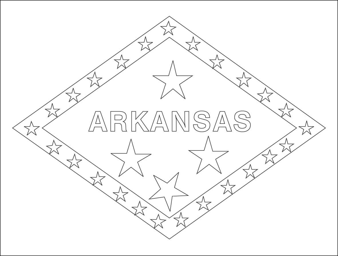 Arkansas State Flag Coloring Page Democraciaejustica