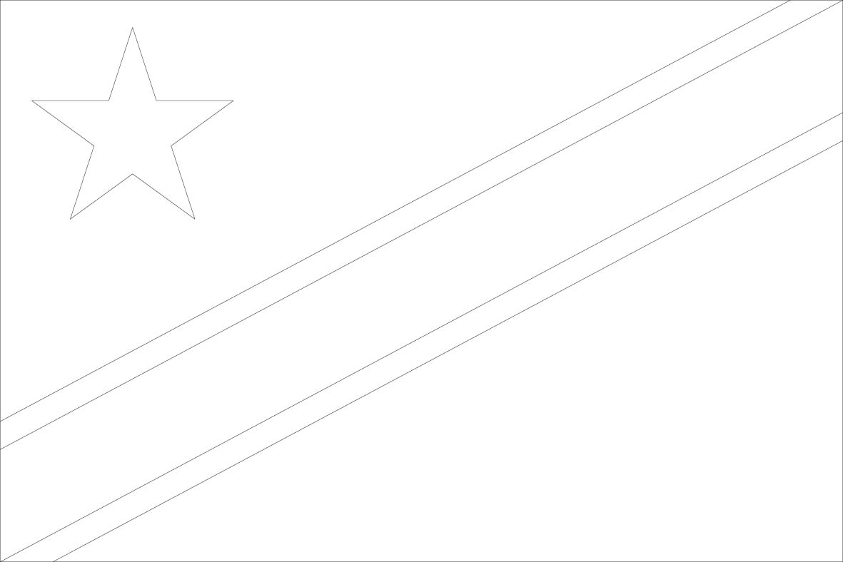 Congo The Democratic Republic Of The Flag Coloring Pages