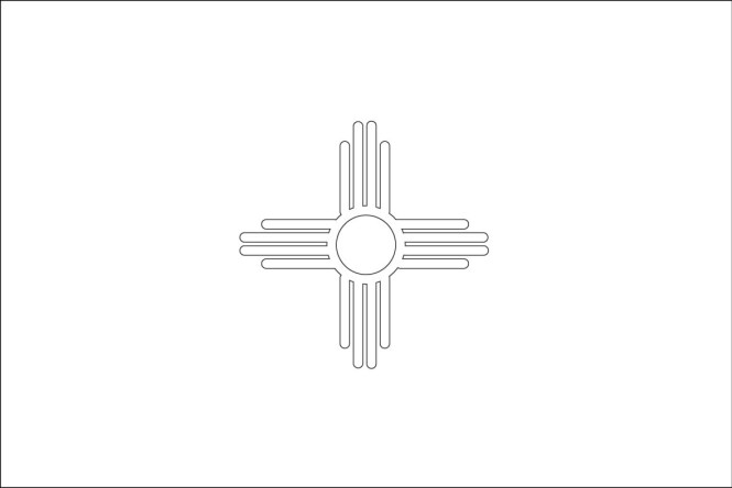 Newmexico Flag Coloring Sheets