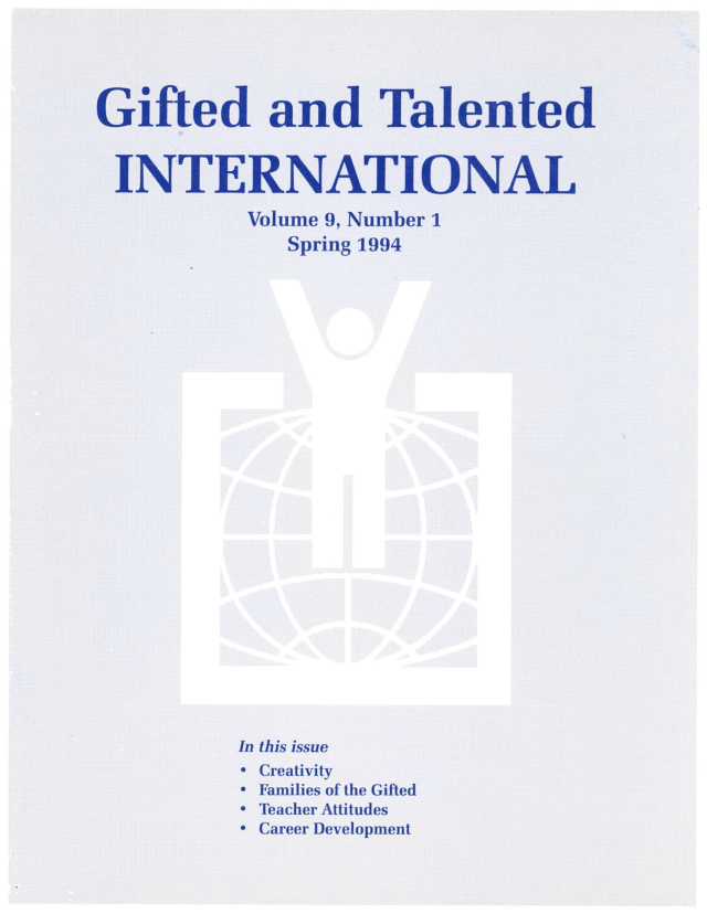 Gifted and Talented International Volume 9, Issue 1 Journal Cover