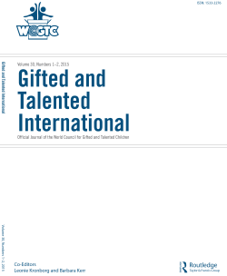 Gifted and Talented International, Volume 30
