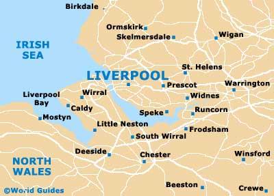 Liverpool Maps and Orientation Liverpool Merseyside England