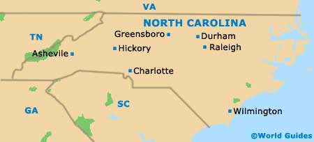 Map of Charlotte Douglas Airport CLT Orientation and