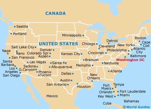 Washington Maps and Orientation Washington District of Columbia DC USA
