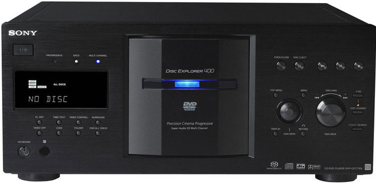 Sony DVPCX777ES 400 Disc Changer Region Free for PAL and