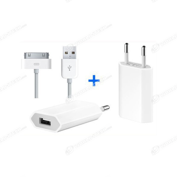 Pack Chargeur blanc Origine iPhone 3GS 4G 4S