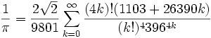 Infinite Series for Pi