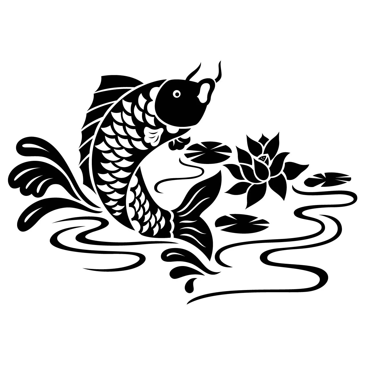 Koi Carp Fish Animal Wall Sticker