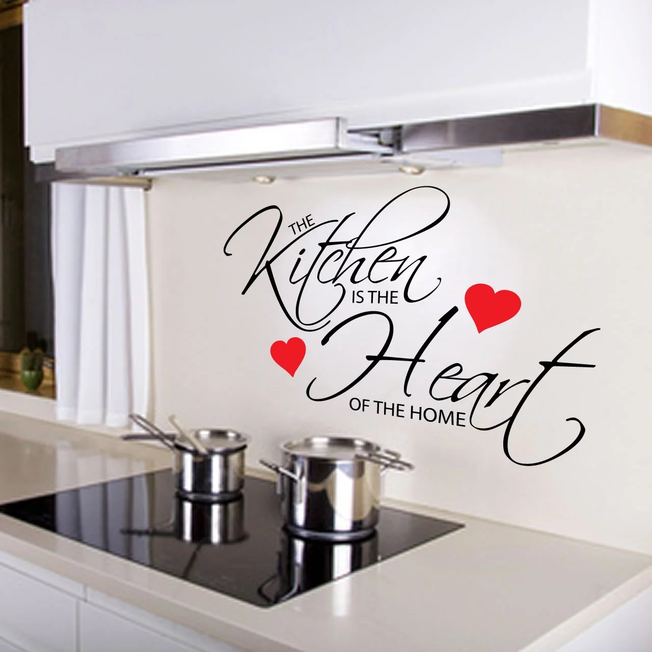 Kitchen Is The Heart Of The Home Quote Wall Sticker