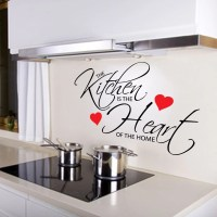 Kitchen Is The Heart Of The Home Quote Wall Sticker ...