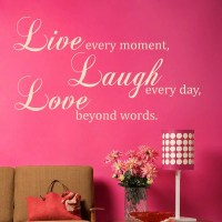 Live Laugh Love Quote Wall Sticker - World of Wall Stickers