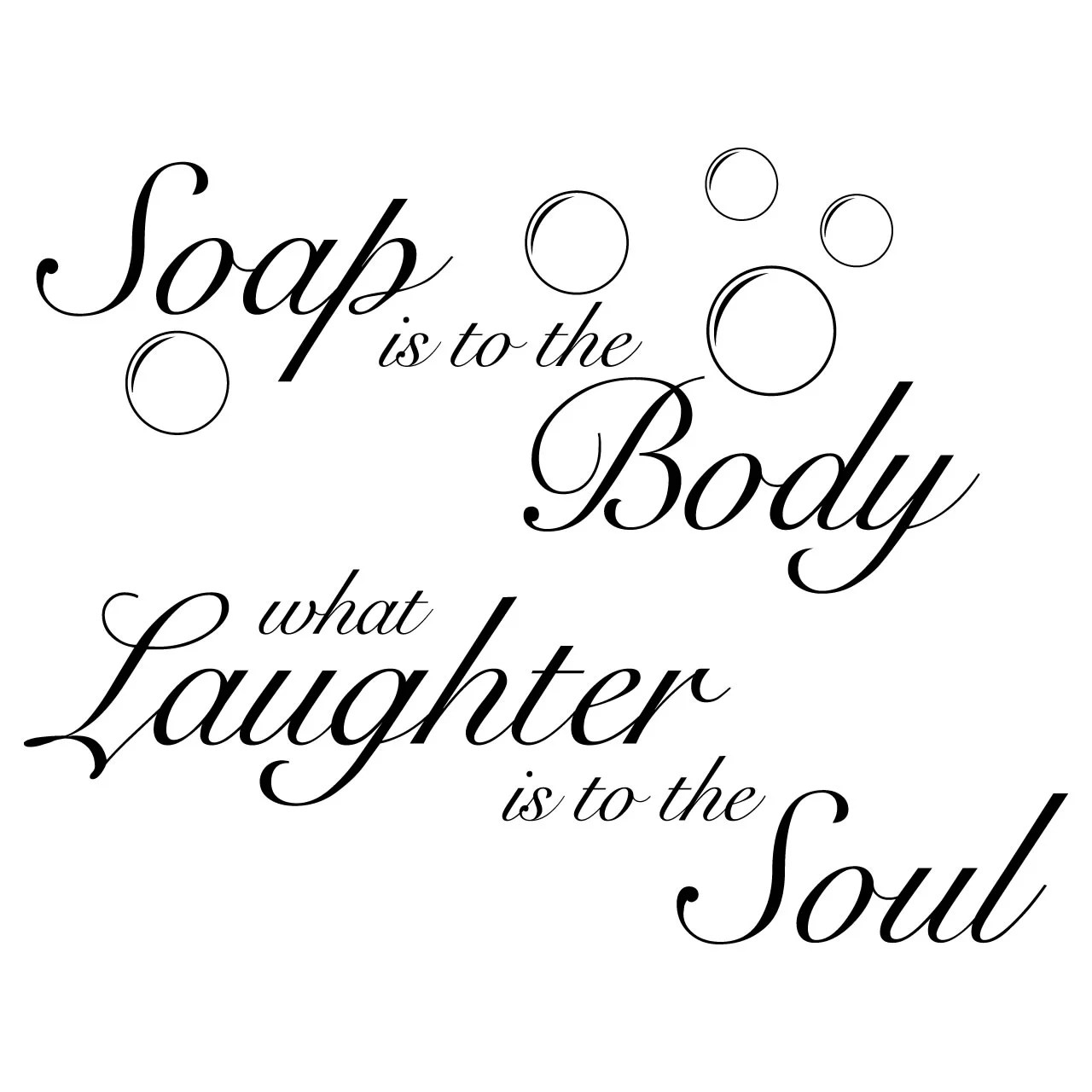 Soap Is To The Body Quote Wall Sticker