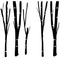 Tree Trunks Wall Sticker - World of Wall Stickers
