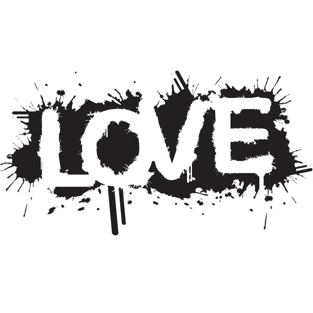 Grunge Love Wall Sticker