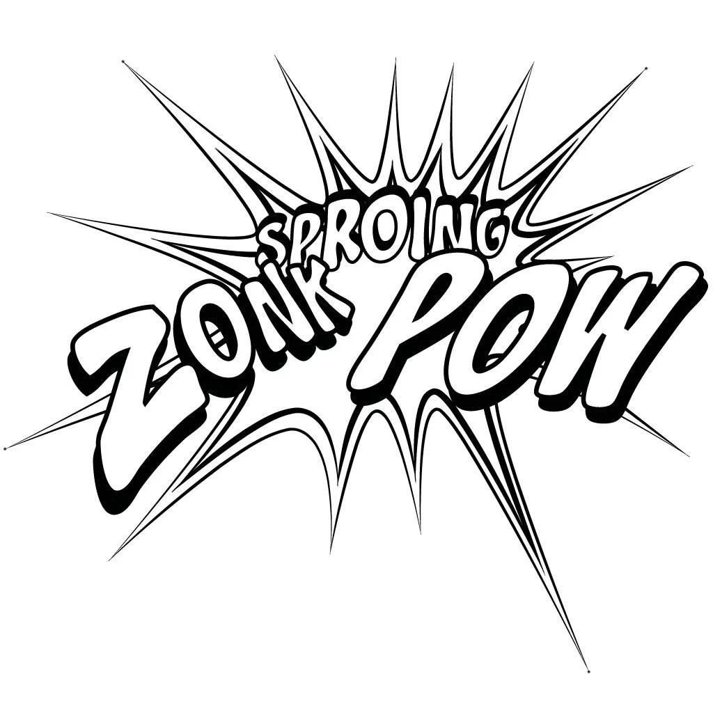 Zoink Sproing Pow Sound Effects Wall Sticker