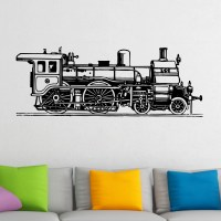 Old Fashioned Train Wall Sticker - World of Wall Stickers
