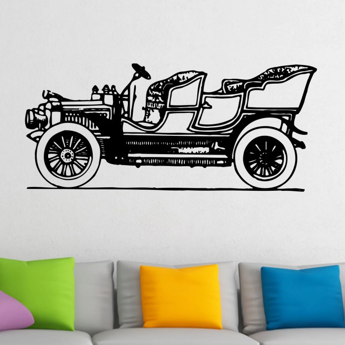 Old Fashioned Vintage Car Wall Sticker Decal World Of Wall Stickers