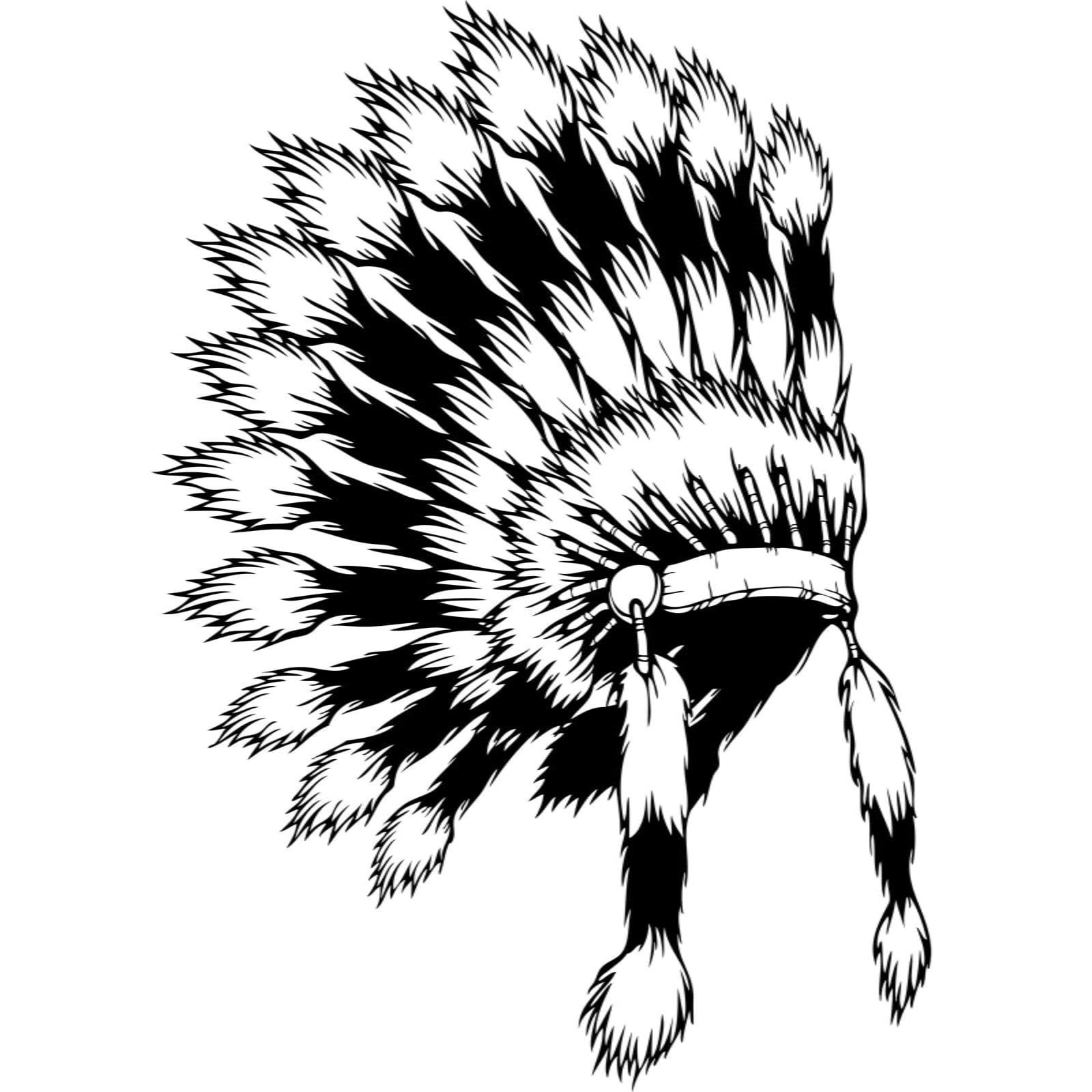 Native American Indian Headdress Wall Sticker